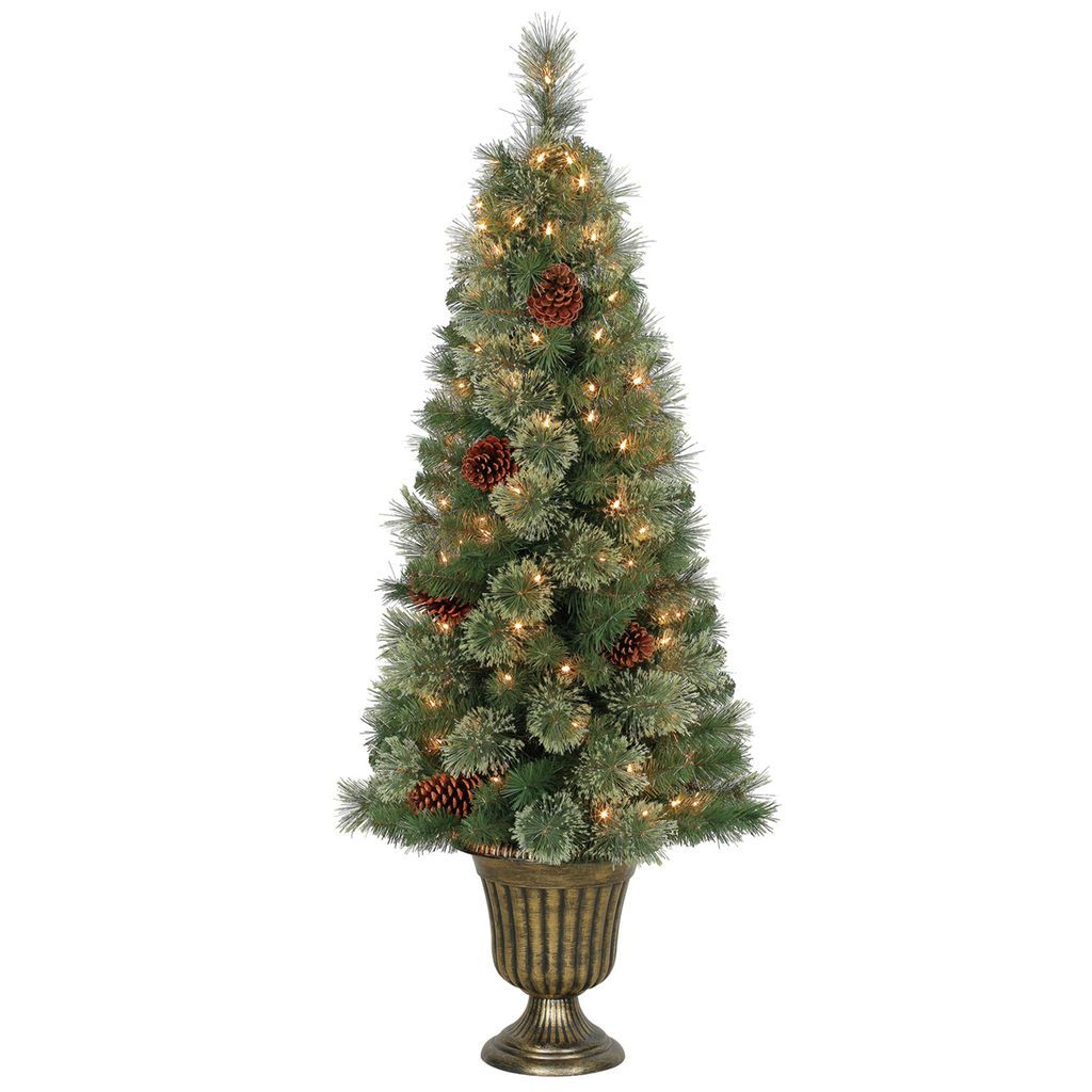 Ashland Christmas Trees.Get The 4 5 Ft Pre Lit Camden Cashmere Potted Artificial