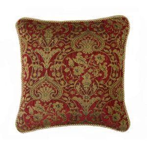 Clarence Burgundy Cushion Cover 60x60cm (24 inch) Amazon
