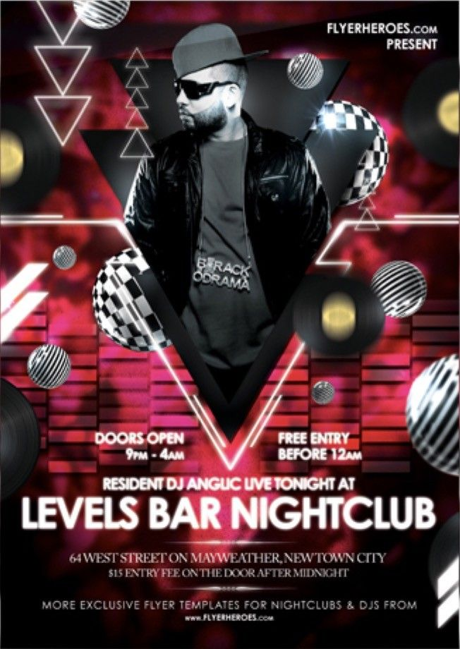 Levels Free Nightclub Flyer Template | Free Flyer Template ...