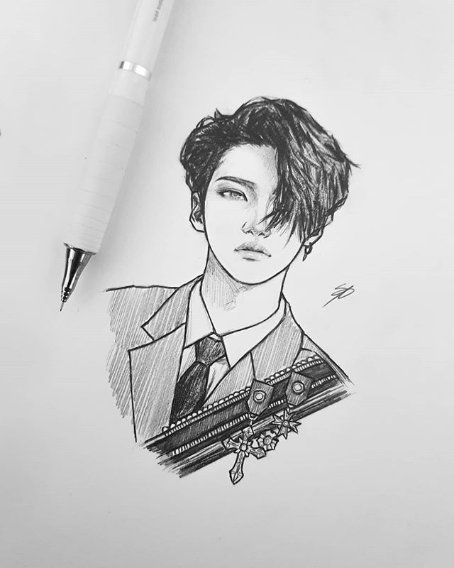 "Photo of • Nikki • on Instagram: ""Seonghwa ♡ #ateez #ateezfanart #fanart #seonghwa #art #drawing #sketch #kpop #kpopfanart"""