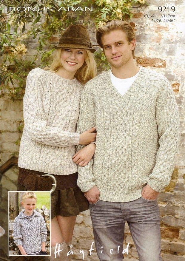 Sweaters in Hayfield Bonus Aran - 9219 | Patterns, Knit crochet and ...