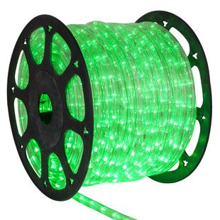 Led Rope Lights 153 True Green Led Rope Light Commercial Spool 120 Volt Christmas Lights Etc Led Rope Lights Rope Light Outdoor Rope Lights