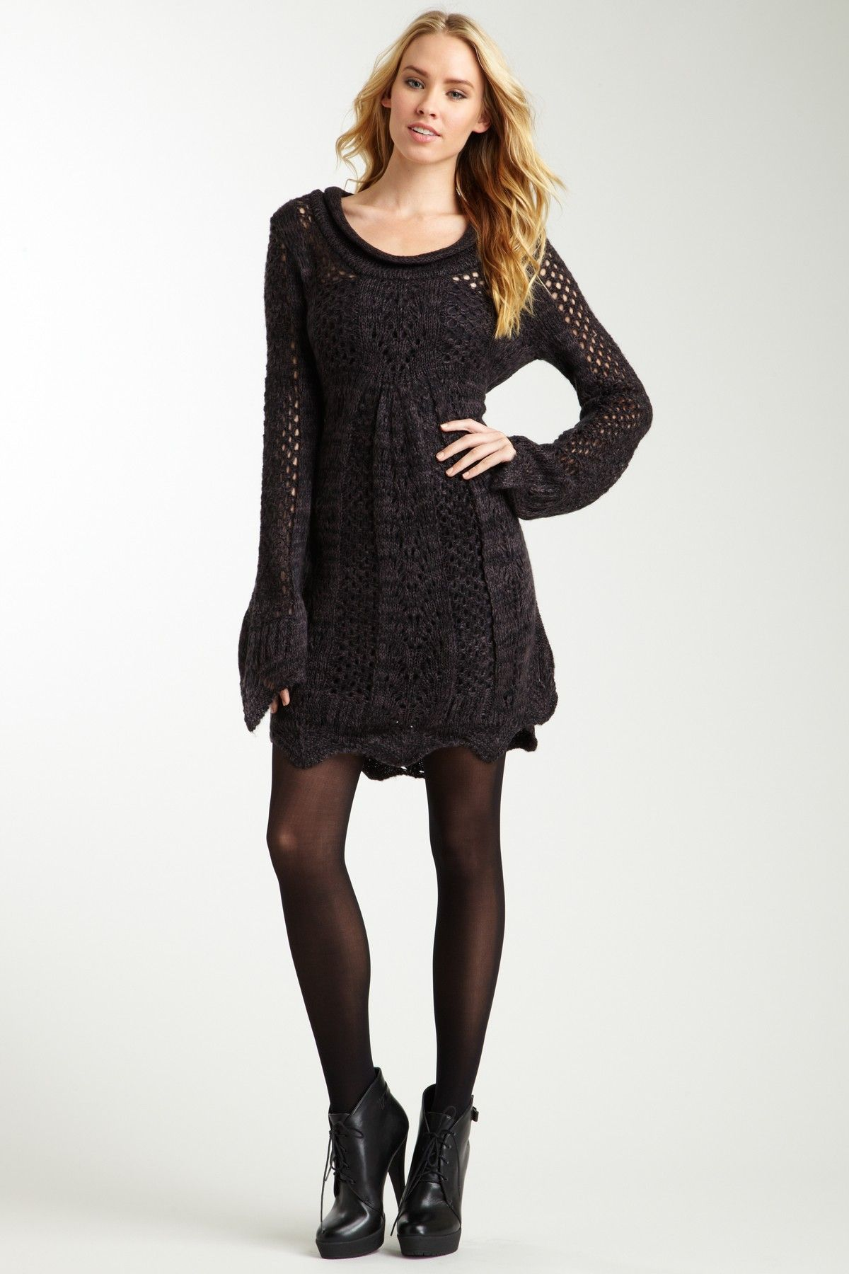 e3959efc42b Crochet Knit Sweater Dress ~ I would make this longer in the length but love  the