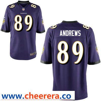 Men s Baltimore Ravens  89 Mark Andrews Purple Team Color Stitched NFL Nike  Game Jersey 80460f6e6