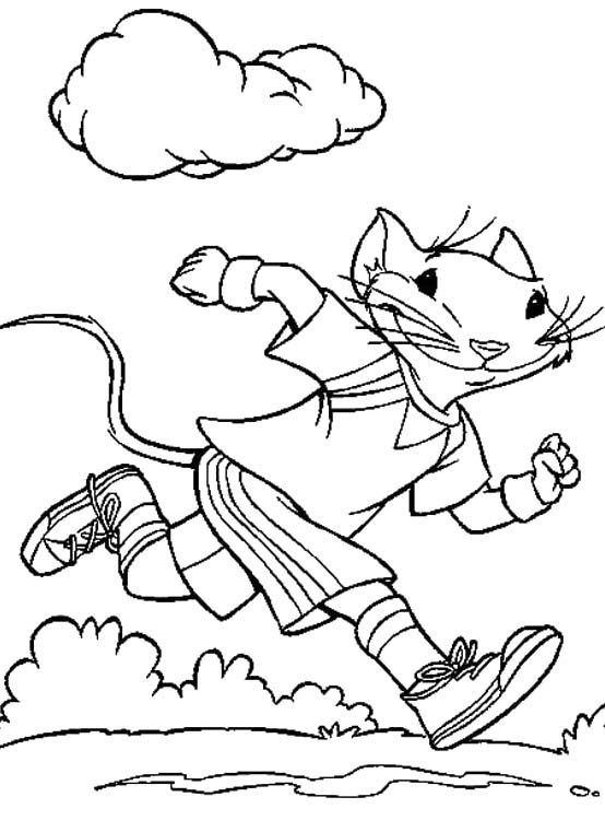 Exercise Coloring Pages For Kids - http://fullcoloring.com ...
