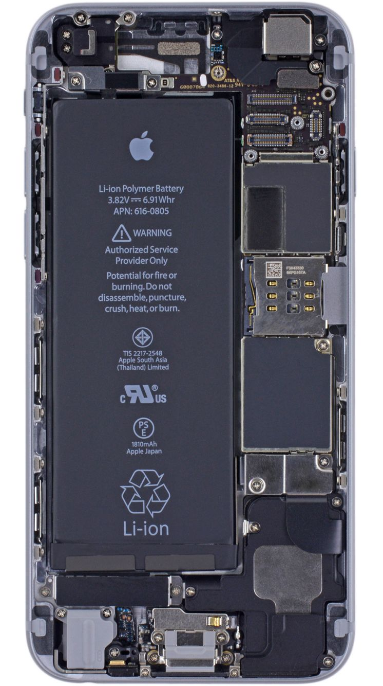 iPhone 6 internals wallpaper Kertas dinding, Apple logo