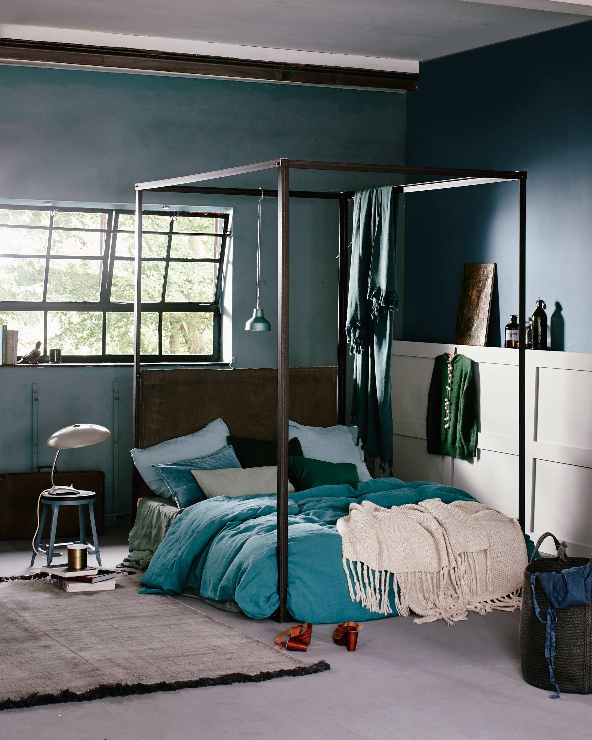 chambre verte lit | bedrooms | Pinterest | Chambres vertes, Vert et ...