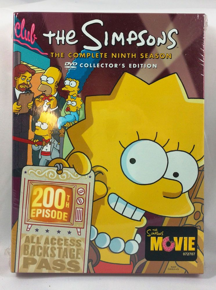 The Simpsons Complete Season 9 Collector S Edition Dvd Boxed Set The Simpsons Los Simpson The Simpsons Movie