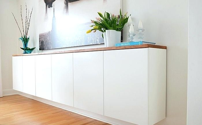 Buffet Cabinet:Remarkable Regarding Long White Sideboard Sideboards  Floating Buffet Table Modern Long Sideboards Exciting