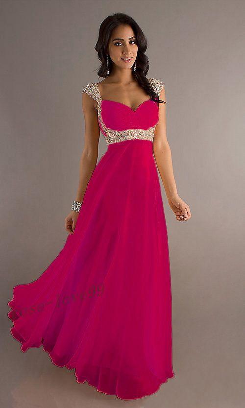 Stock Chiffon Straps Long Formal Ball Evening Party Bridesmaid Dress ...