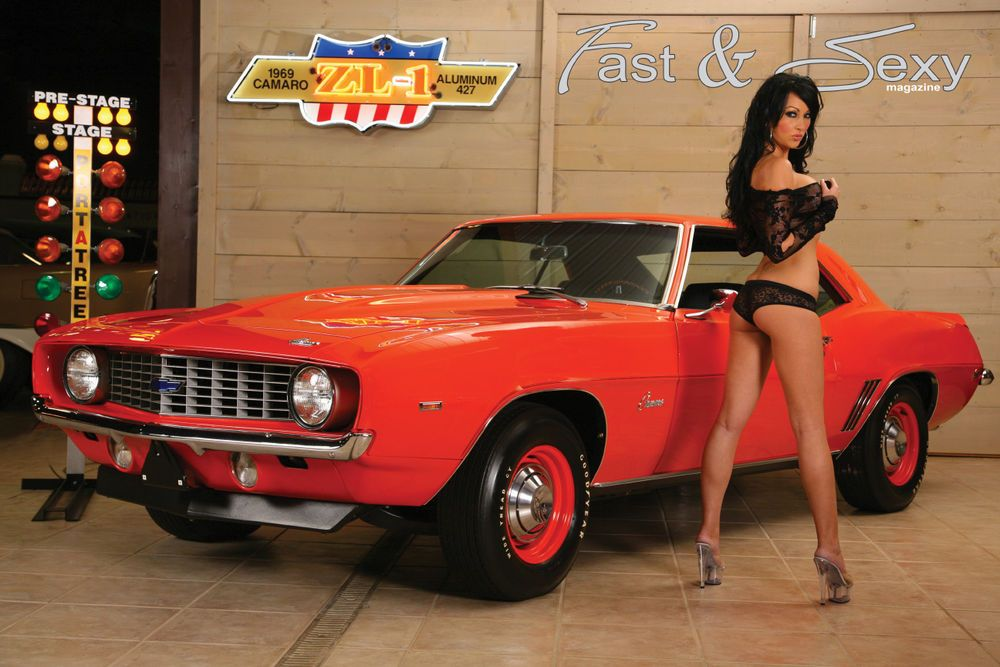 Camaro ZL Fast Sexy Poster Hot Models Muscle Cars - Fast car magazine models
