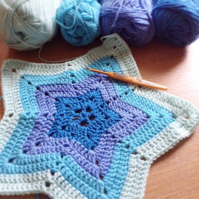 patternpiper's #crochet star ripple blanket | Crochet ...