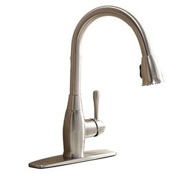 Shop Aquasource Brushed Nickel 1 Handle Pull Down Kitchen Faucet At Lowes Com Brushed Nickel Kitchen Faucet Modern Kitchen Faucet Kitchen Faucet