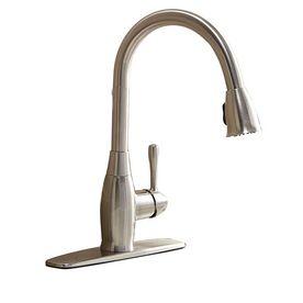 AquaSource Brushed Nickel 1Handle PullDown Kitchen