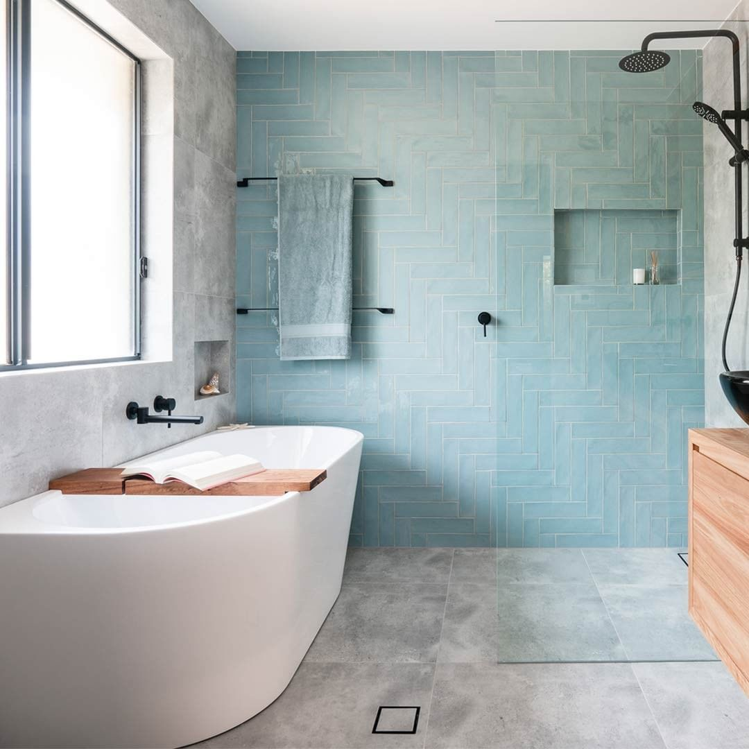 Blue Feature Wall Tiles