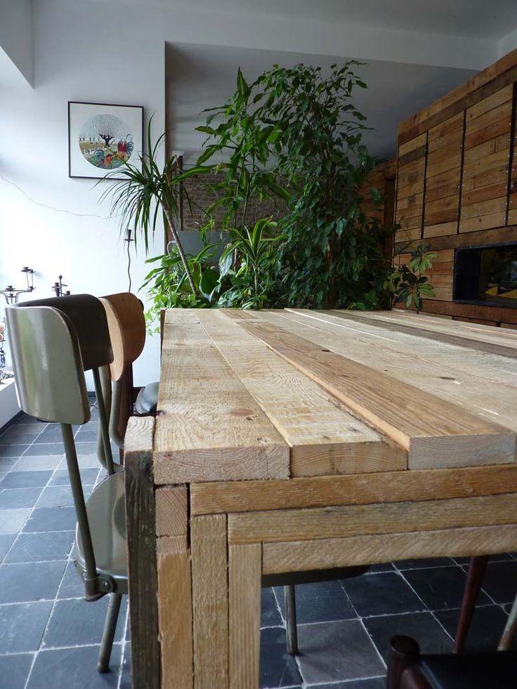 Mesa de comerdor de palets mesas de comedor pinterest - Mesa de palets bricolaje ...
