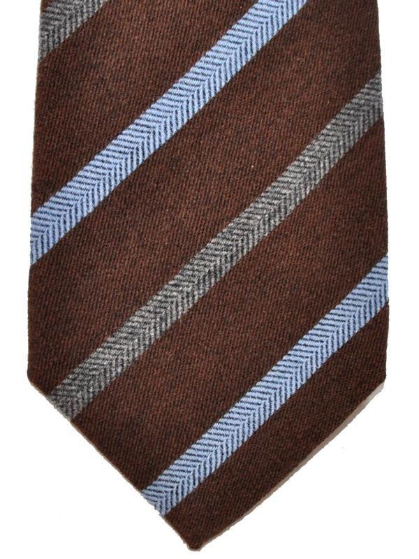 Mens Striped Wool-Silk Herringbone Necktie Kiton 3TiKZw