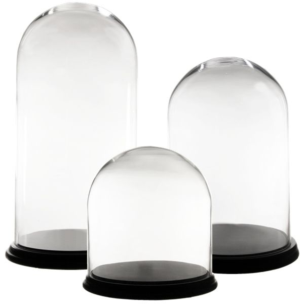 Glass Cloche Dome Wholesale H 15 Inch Pack Of 2 Pcs Glass