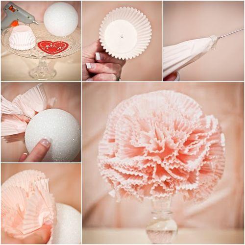 # How to DIY Romantic Cupcake Liner Pomander | fabartdiy.com
