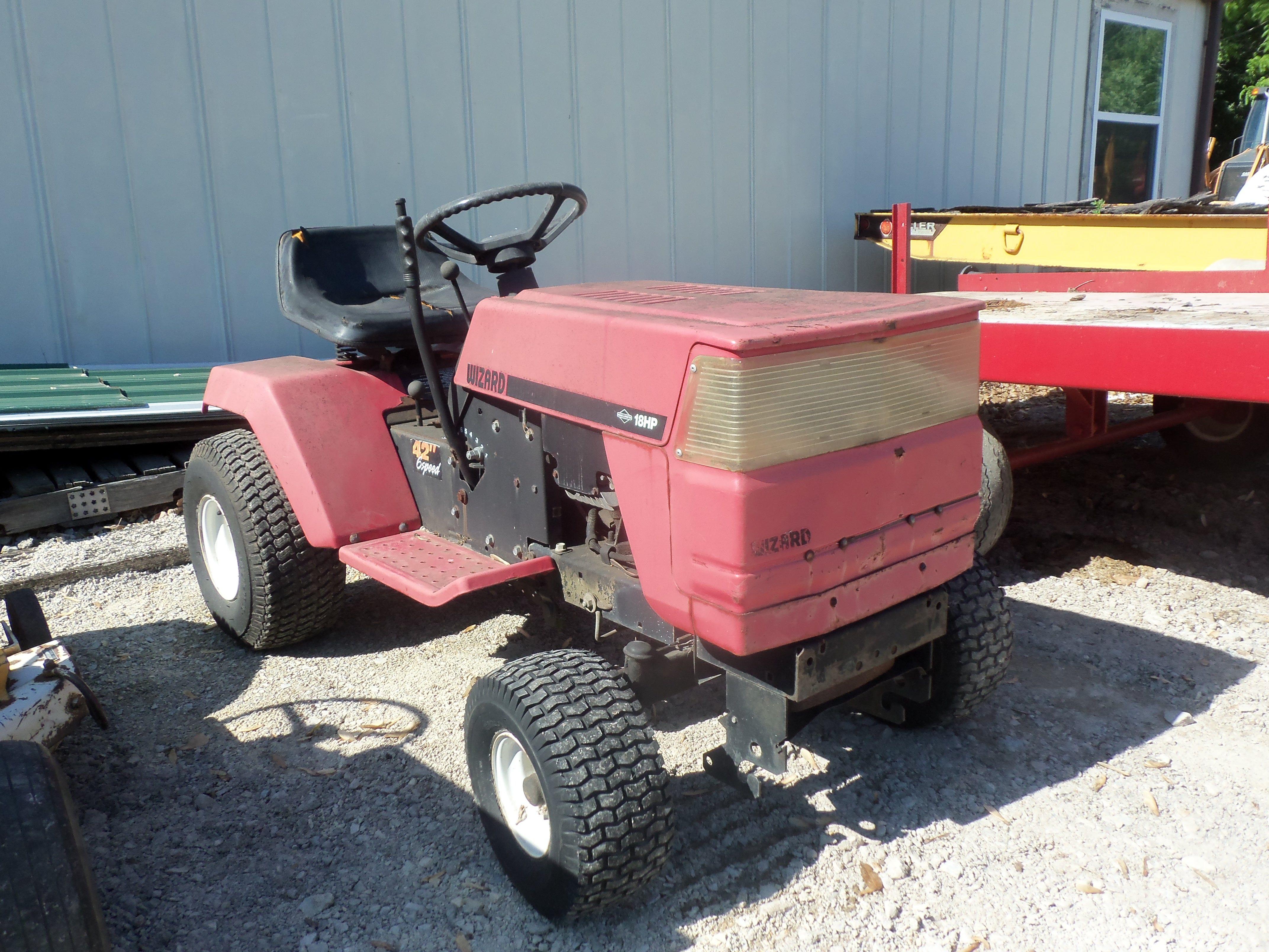 Wizard 18 hp lawn & garden tractor Tractors Pinterest