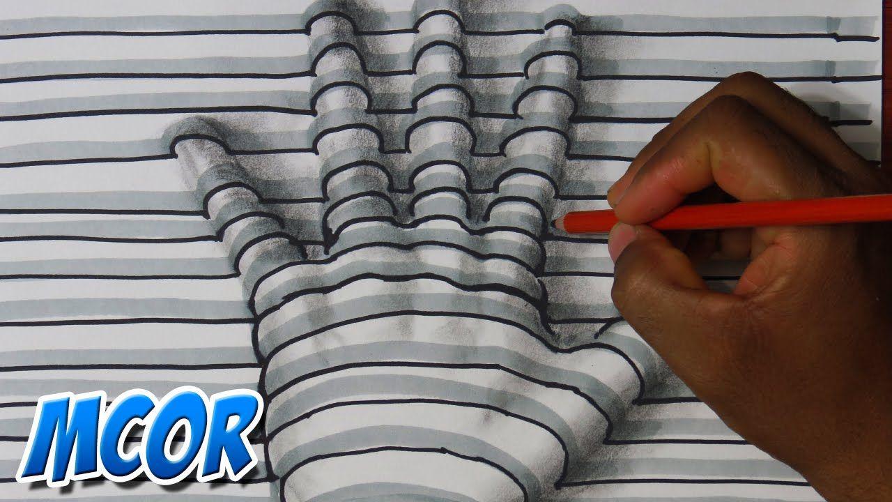 Como Hacer La Libreta De Dibujo De Marinetteprodigiosa: Como Dibujar Una Mano En 3D - Facil Y Rapido