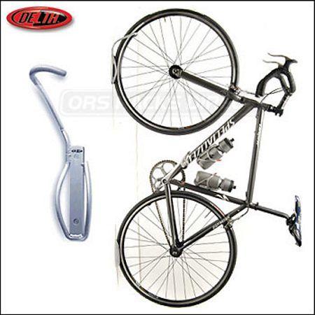 Delta Leonardo Da Vinci wall mount bike hanging device. Small, elegant... does it work?