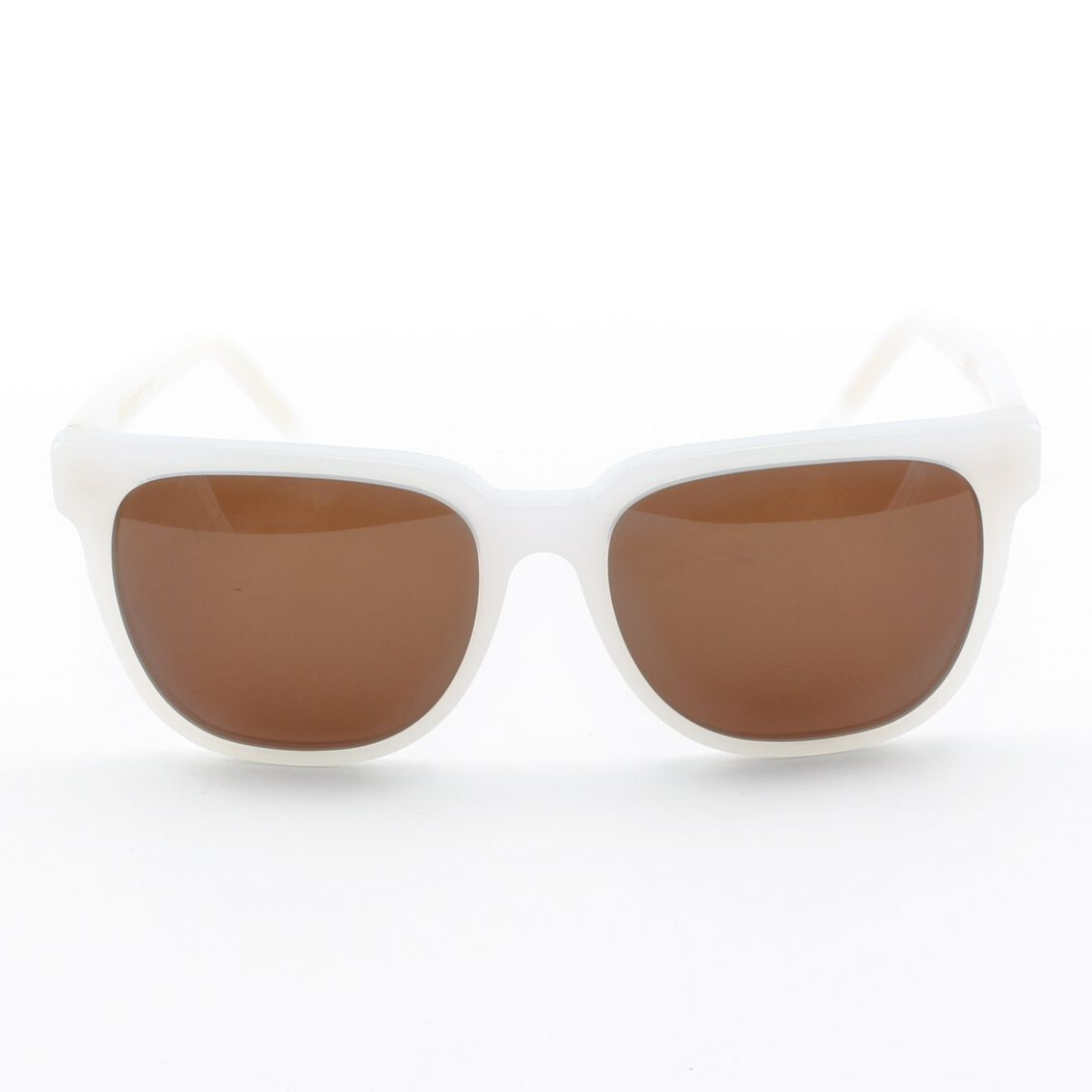 Super People 289 Sunglasses Ivory with Brown Zeiss Lenses by RETROSUPERFUTURE - Theaspecs.com