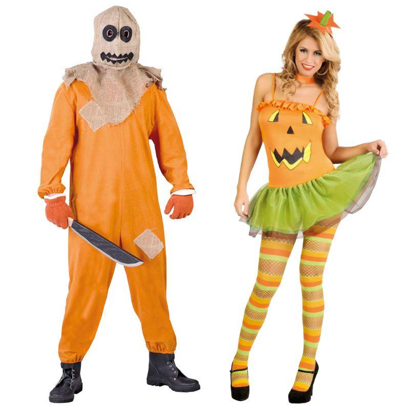 Pareja disfraces de calabazas diab licas parejas - Difraces para carnaval ...