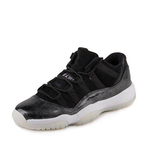purchase cheap bce20 5da88 NIKE Jordan Big Kids Air Jordan 11 Retro Low GS Baron Black White-Metallic  Silver Size 6.0 US