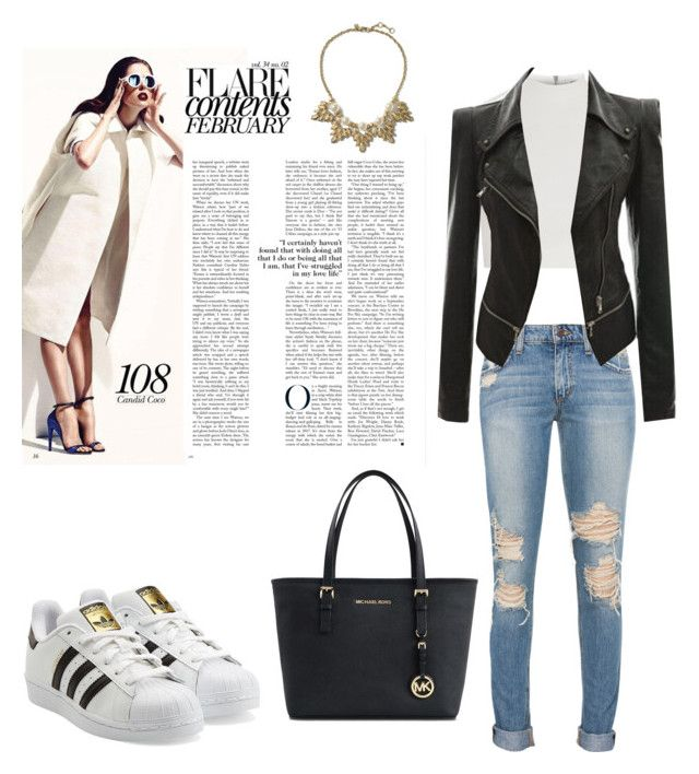"""""""Style#140"""" by carla-garfels ❤ liked on Polyvore featuring mode, Elizabeth and James, Michael Kors, adidas Originals et Banana Republic"""