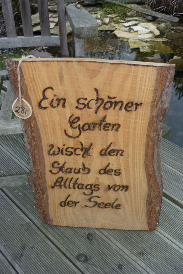 Holzschild Lebensweisheit Spruche Garten Holz Kreativ Garten