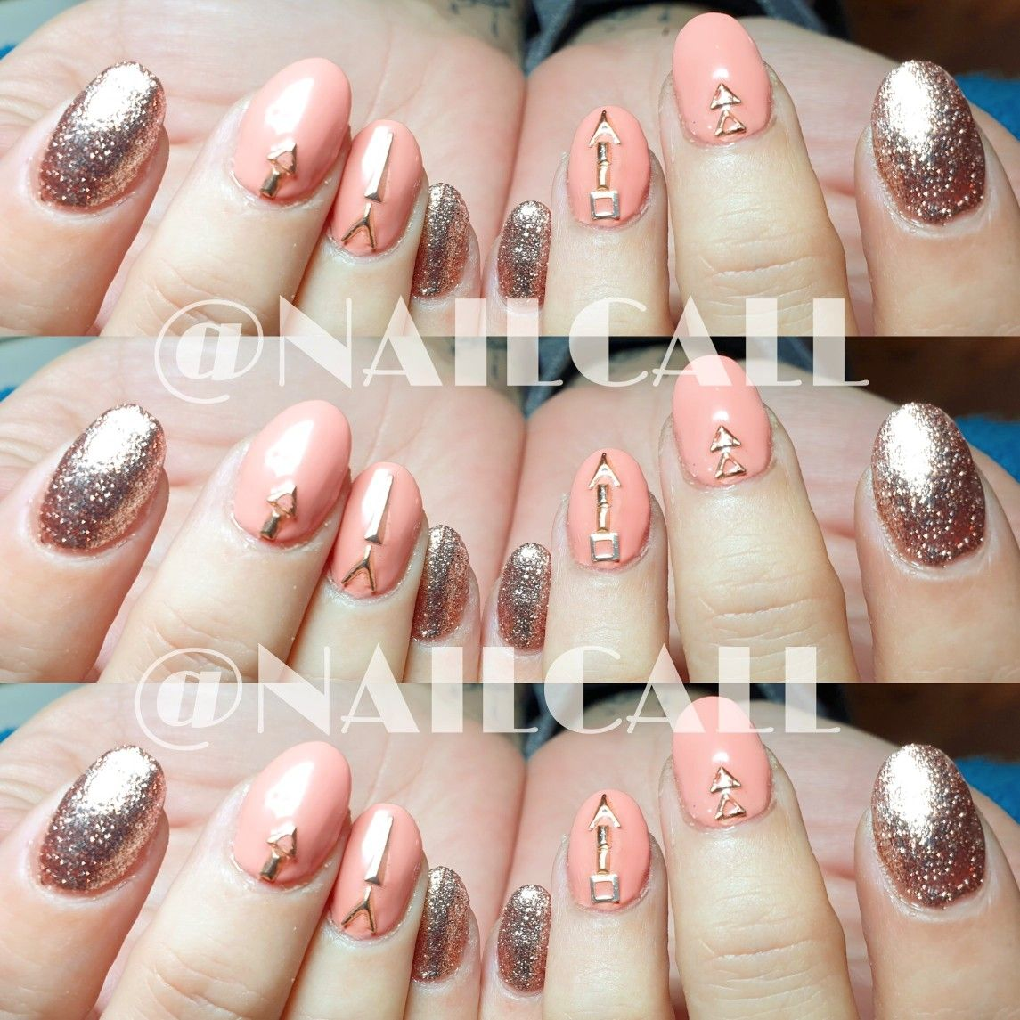 A little Rose Gold #naillove for this #stunningset if #sculptedacrylicnails with a #bitofbling to set them off  #gorgeouscolours from @thegelbottleaus #thegelbottleaus #gelbottlerosegold   #nailcallstyle #nailcalloptions #naillove #livelovenails #creativenails #byappointment #nailfunk #nailjunkie #psiloveyou #newcastlenswart #pamperparty #mobilesalon