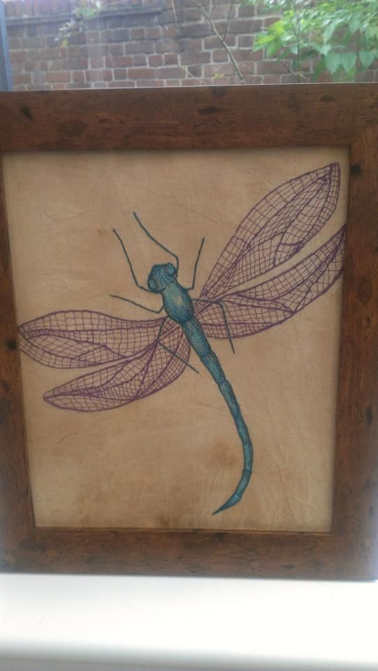 'Grace' Dragonfly Freestyle Machine Embroidery. https://www.facebook.com/BeadieEyedEdie