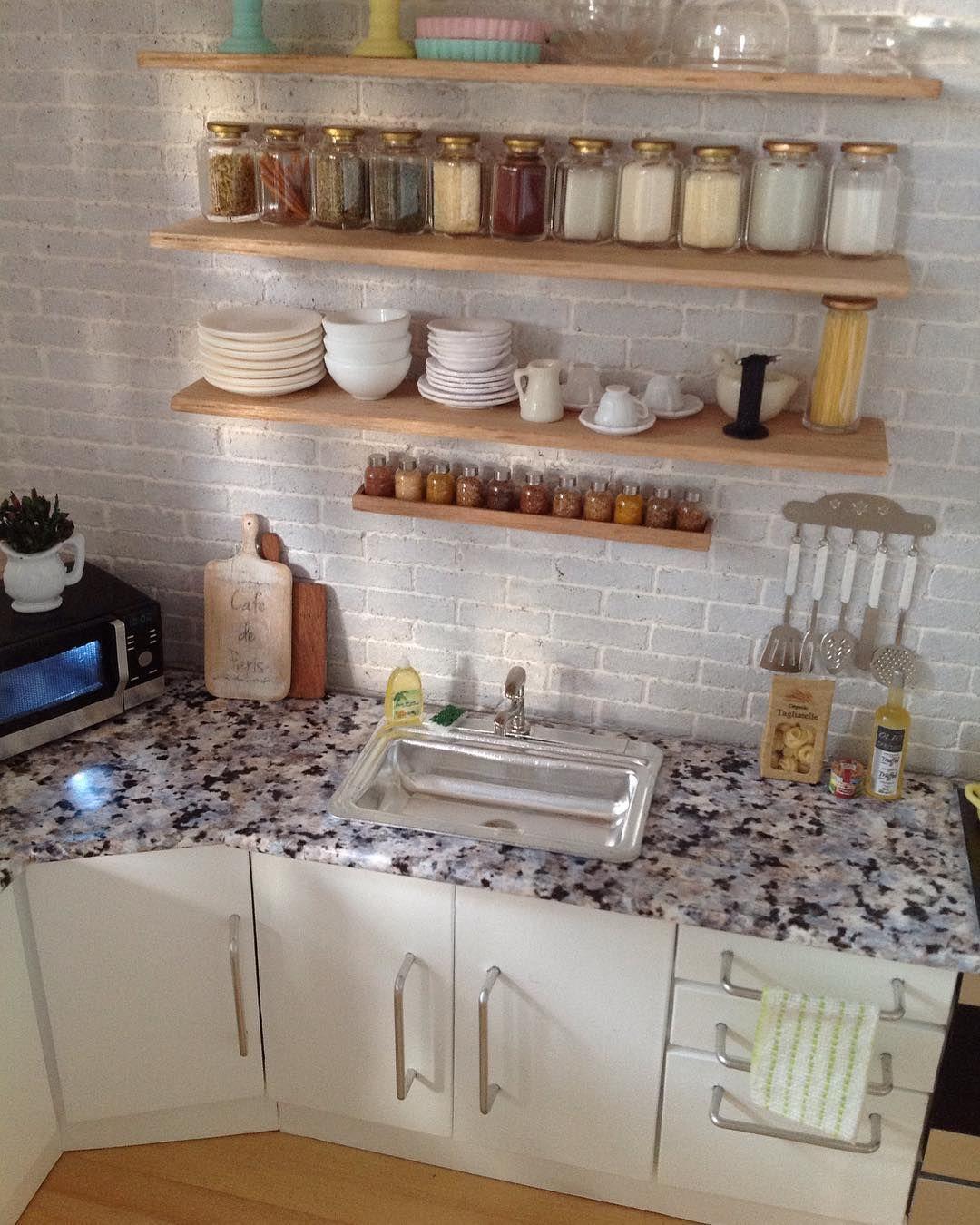 2017 Miniature Kitchen By Almadejonge Miniature Kitchen Dolls House Interiors Mini Kitchen
