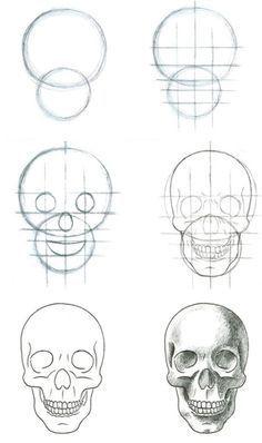 Como desenhar uma caveira decente drawings sketches and tutorials como desenhar uma caveira decente a skullhow to draw ccuart Image collections