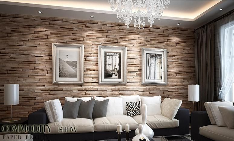 Aliexpress.com : Buy PVC Wood Stone Brick Wallpaper 3D