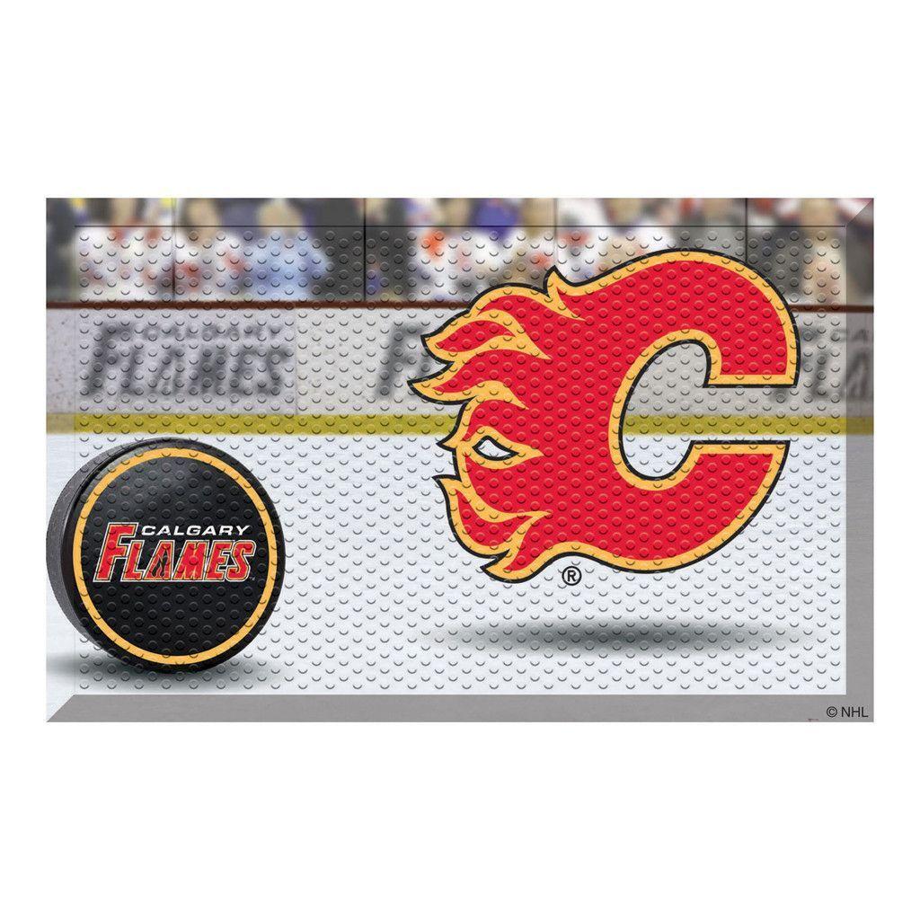 Calgary Flames Home Floor Mat Calgary, Nhl, Floor mats