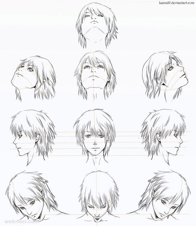 How To Draw Anime Tutorial With Beautiful Anime Character Drawings Anime Character Drawing Anime Head Manga Drawing