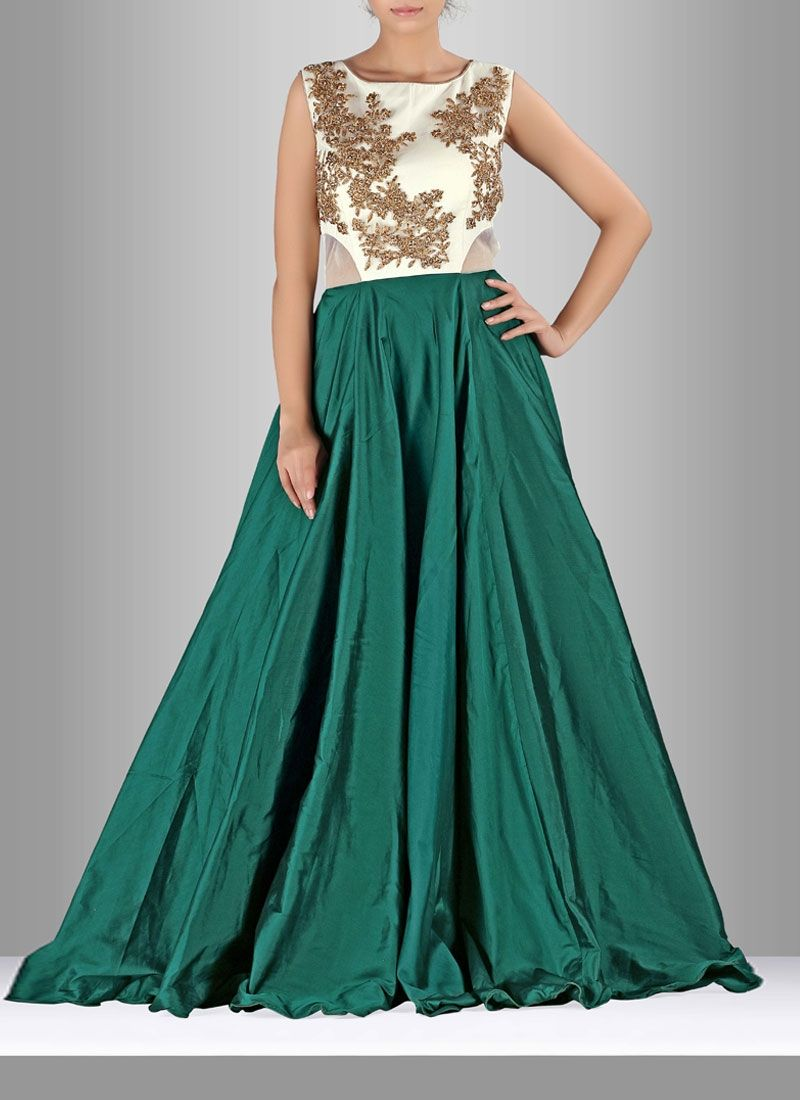 Make an adorable statement with this silk gown. The cut dana ...