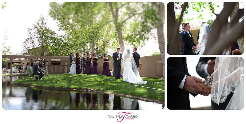 Casa Rondena Winery Wedding Outdoor Ceremony New Mexico Vows