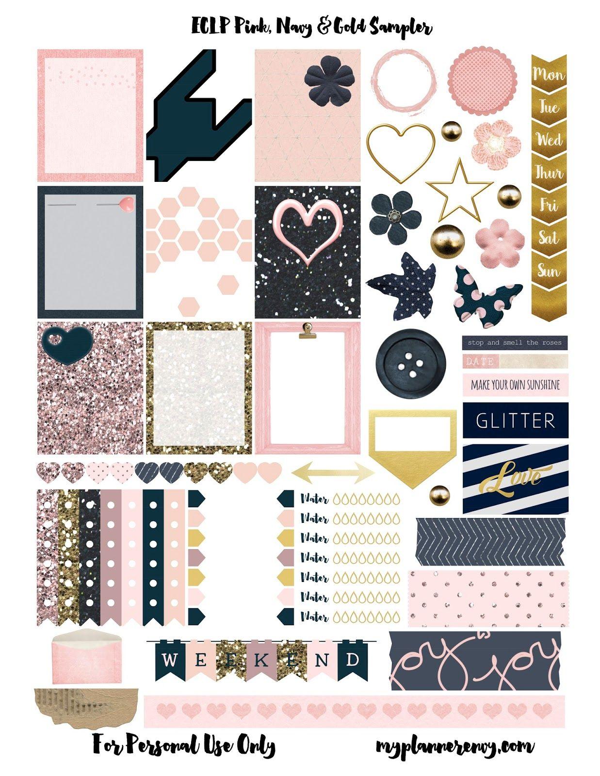 Free printable Fashion Icon Erin Condren Stickers by