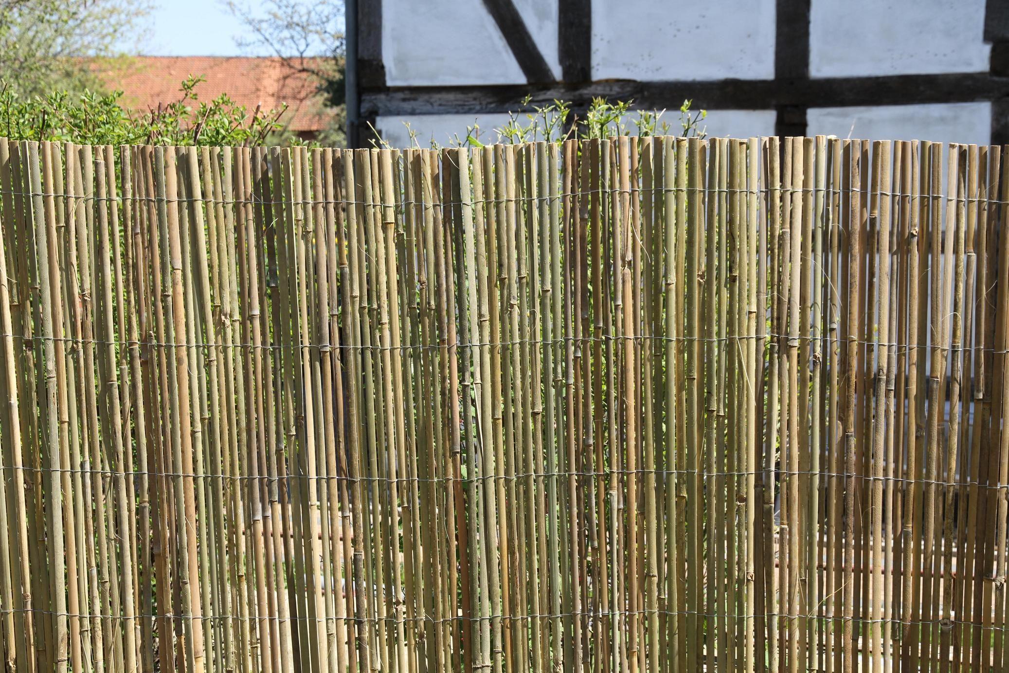 BAMBUSMATTE geschnitten Als Sichtschutz oder Raumteilungselement