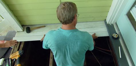 How To Replace A Rotten Wood Porch Floor Porch Flooring Porch