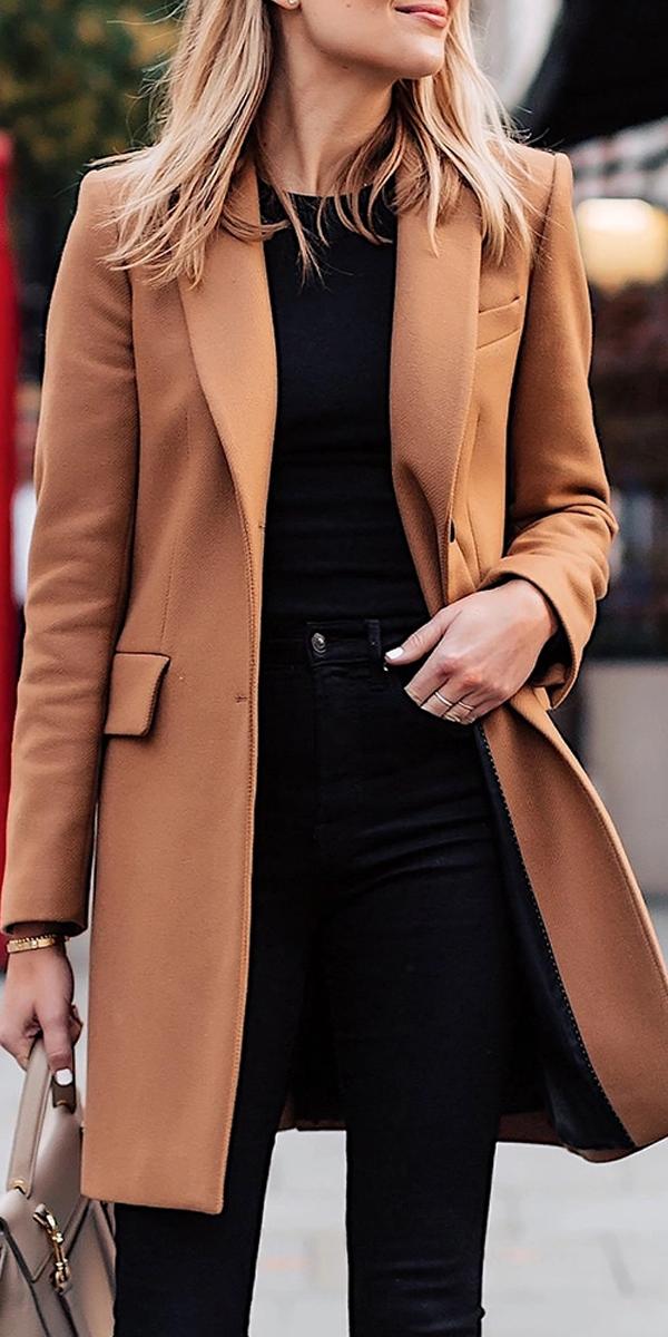 Photo of Mode revers einfarbig mit tasche langen mantel