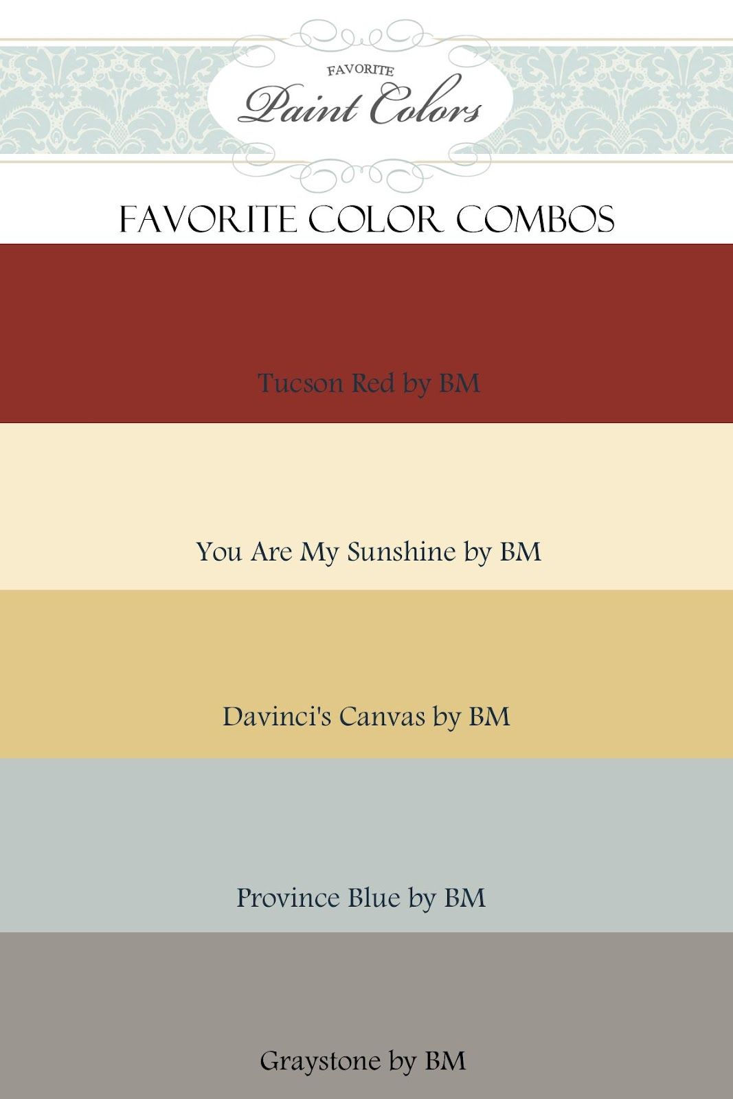 Color Combinations for Tucson Red | Favorite Paint Colors Blog ...