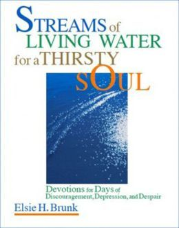 Streams of Living Water for a Thirsty Soul: Christian Devotionals for Days of Discouragement by Elsie H. Brunk. Discouraged? Depressed? In Despair? Do you #wonder if you'll make it? If there will ever be #brighter #days?   Almost everyone #experiences #emotional dryness. Some go from one desert to another. Others spend most of their #lives in the #wilderness. No matter what the cause, we share common #feelings and questions along on our journey