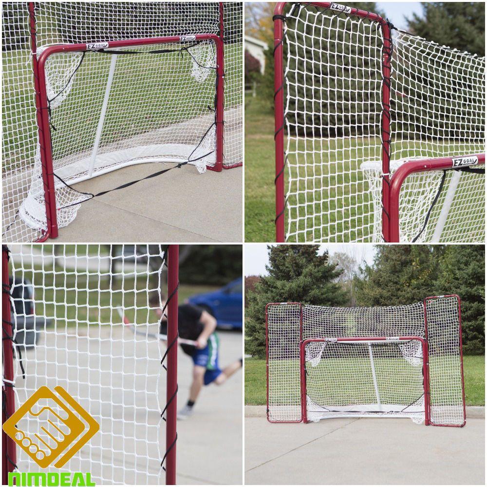 Street Hockey Goal Backstop Corner Targets Slapshot Folding Nets