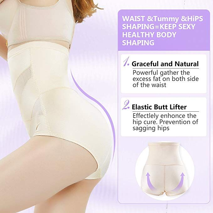 c6837ebce0 MOVWIN Women Body Shaper Seamless Briefs Sexy Shapewear Panty High Waist  Butts Lifter Tummy Control Panties