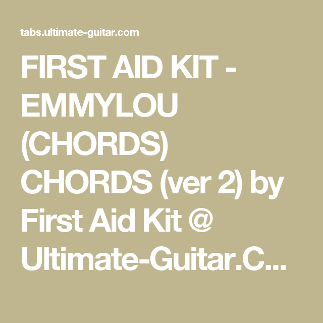 First Aid Kit Emmylou Chords Chords Ver 2 By First Aid Kit
