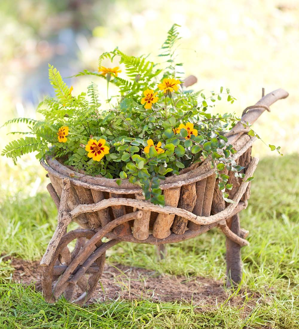 Root Wheelbarrow Planter | Decorative Plant Containers | Pots ...